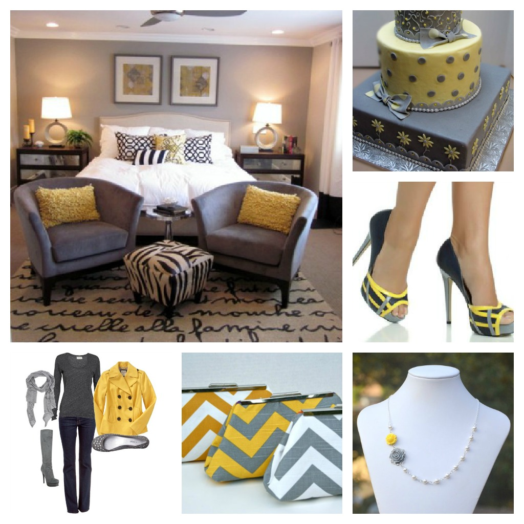 Theme thursday kokoa magazine for Gray and yellow bedroom
