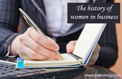 history of women in business
